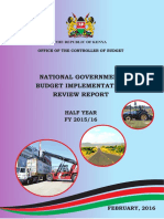 National Government Budget Implementation Review Report Half Year Fy 201516 Final