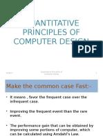 Quantitative Principles of Computer Design
