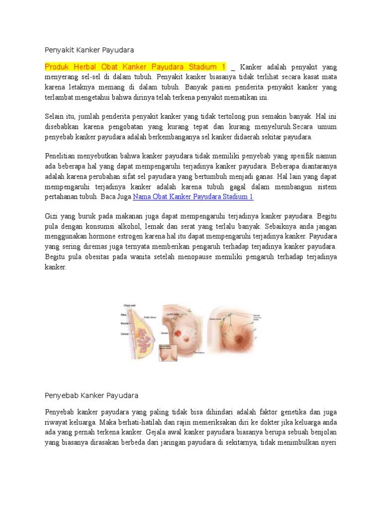 Penyebab Kanker Payudara Karena Sering Diremas - Berbagai ...