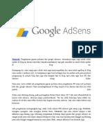 Pengalaman Pertama Kali Gajian Dari Google Adsense