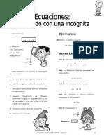 IV BIM - 1ero. Año - Guía 6 - Ecuaciones 1er Grado Con