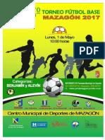 Bases 5º Torneo de Fútbol Base de Mazagón 2017.
