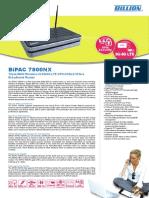 Billion 7800NX Triple-WAN Wireless-N 3G/4G LTE VPN ADSL2+ Fibre Broadband Router