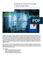 Premium CIP Cleaning for Food Processing equipment with NALCLEAN 8940-ChemEqual