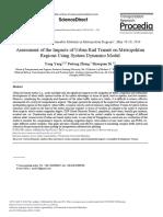 Assessment of the Impacts of Urban Rail Transit on Metropolitan Regions Using System Dynamics Model