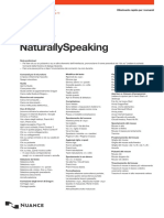 Dragon NaturallySpeaking Lista Comandi