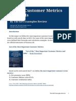 List of Customer Metrics and KPIs