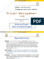 (1) What is a Project (Initiating Project) 2014