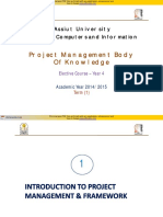 (1) Introduction to Project Management Framework