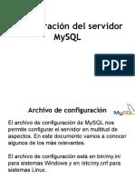Configuración del servidor MySQL