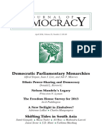 Democratic parliamentary monarchies Alfred Stepan, Juan J. Linz, and Juli F. Minoves