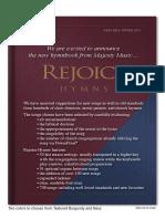 Rejoice Hymns Song List