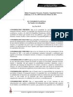 Anibal Santillan. Ley No. 63-17, De Movilidad, Transporte Terrestre, Tránsito y Seguridad Vial