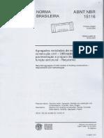 NBR 15.116 Agregados Reciclados de RCC