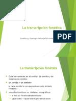 2 La Transcripción Fonética