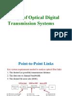 Design of Optical Digital Transmission Systems