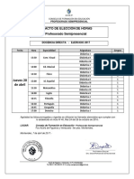 Elección de Horas - 20 de Abril de 2017