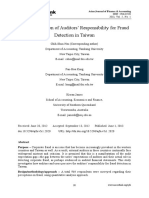 An Investigation of Auditors Responsibility for Fraud Detection in Taiwan