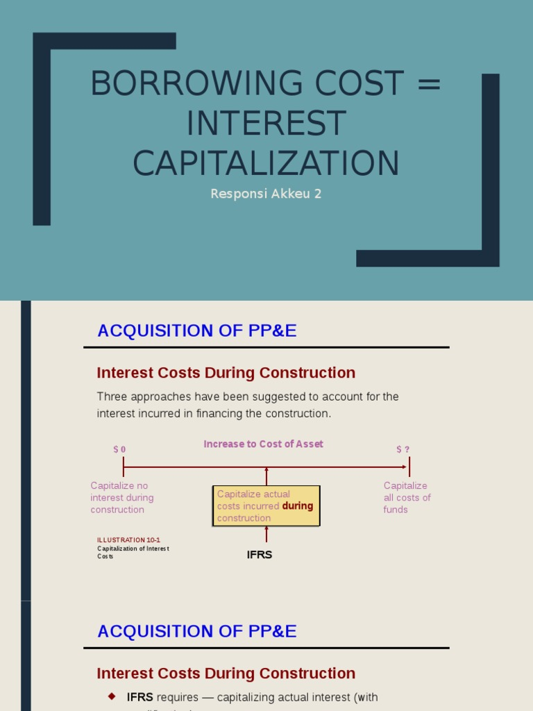 What is the capitalization of interest, you need to know each