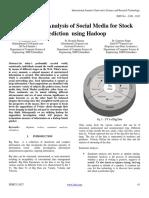Sentimental Analysis of Social Media for Stock Prediction Using Hadoop