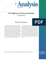 The Inefficiency of Clearing Mandates, Cato Policy Analysis No. 665
