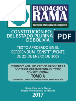 CONSTITUCIÓN POLÍTICA DEL ESTADO PLURINACIONAL DE BOLIVIA - Tomo A - Sent. Constitucionales