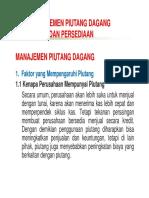 Manajemen Piutang Dan Persediaan