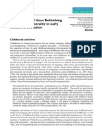Childhoods and Time Rethinking