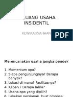 4.Usaha insidentil