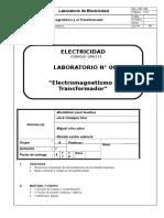 Lab 06. Electromagnetismo y Transformador