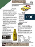 Compact Porosity Detector Datasheet Rfs