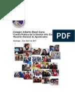 Cuenta Pública 2016 - Reunión General de Apoderados 2017