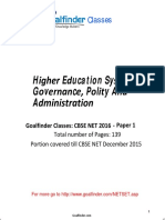 NET SET Higher Education  Polity and Governance inIndia