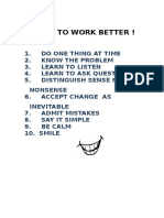HOW TO WORK BETTER.doc