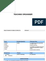 Teaching Organiser Chapter 8