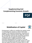 Supplementing and Complimenting Economic Growth