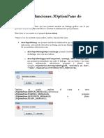 009 Métodos y Funciones JOptionPane de Java