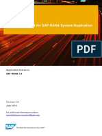 Network Required for SAP HANASystem Replication