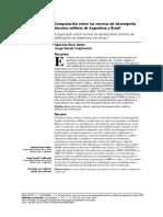Comparacion entre las Normas de desempeño termico de Brasil y Argentina