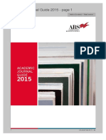 ABS 2015 Journal Guide
