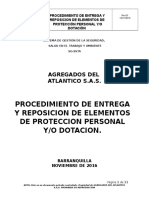 Procedimiento de Entrega de EPP y Dotacion
