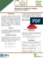 Poster Fundamentos Matemáticos da Mecânica Analítica 6ºCINTEC