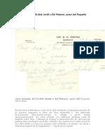 DR. BOB 10 Carta Firmada Del Dr