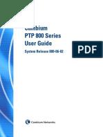 Cambium PTP 800 Series 06-02 User Guide