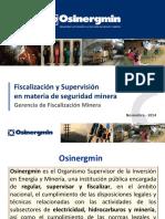 Fiscalizacion y Supervision en Seguridad a Mineria