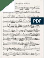 Impromptu Concertant Pentru Vioara