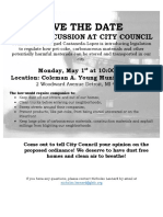 Public Health and Safety Committee Hearing Flyer