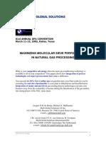 Maximising Molecular Sieve Performance in Gas Processing