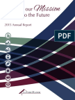 Annual Report 2015 - Living Our Mission - Pathway to the Future