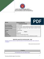 Modelo RAE- Análisis de contenido - Bibliografía